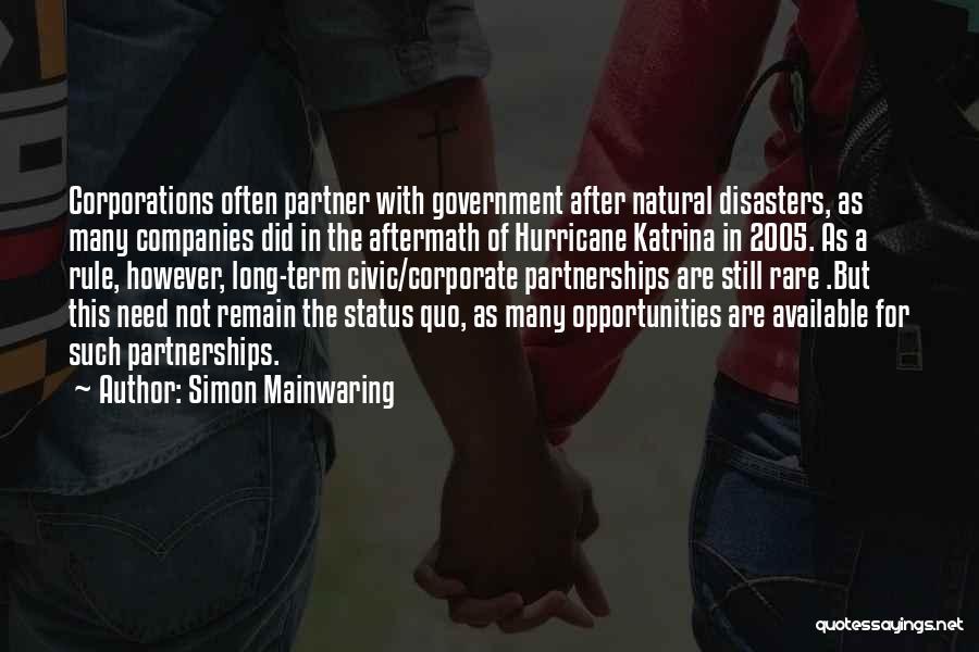 Simon Mainwaring Quotes 1869026