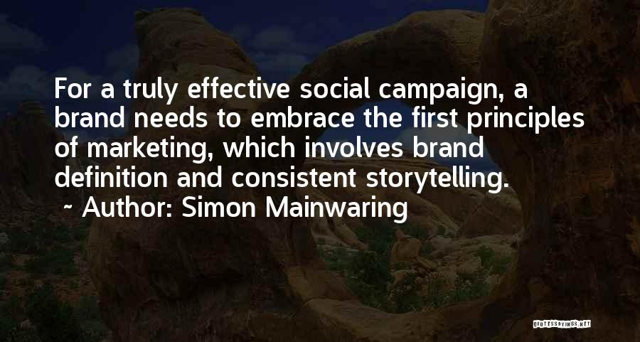 Simon Mainwaring Quotes 207424