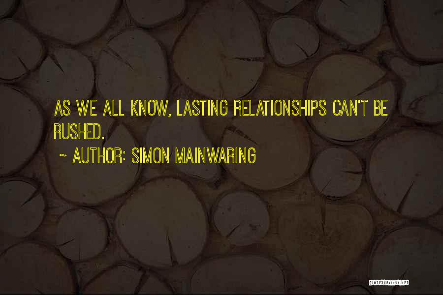 Simon Mainwaring Quotes 212265