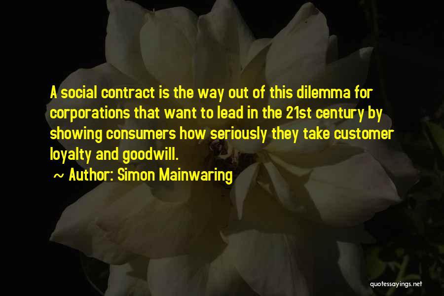 Simon Mainwaring Quotes 279613