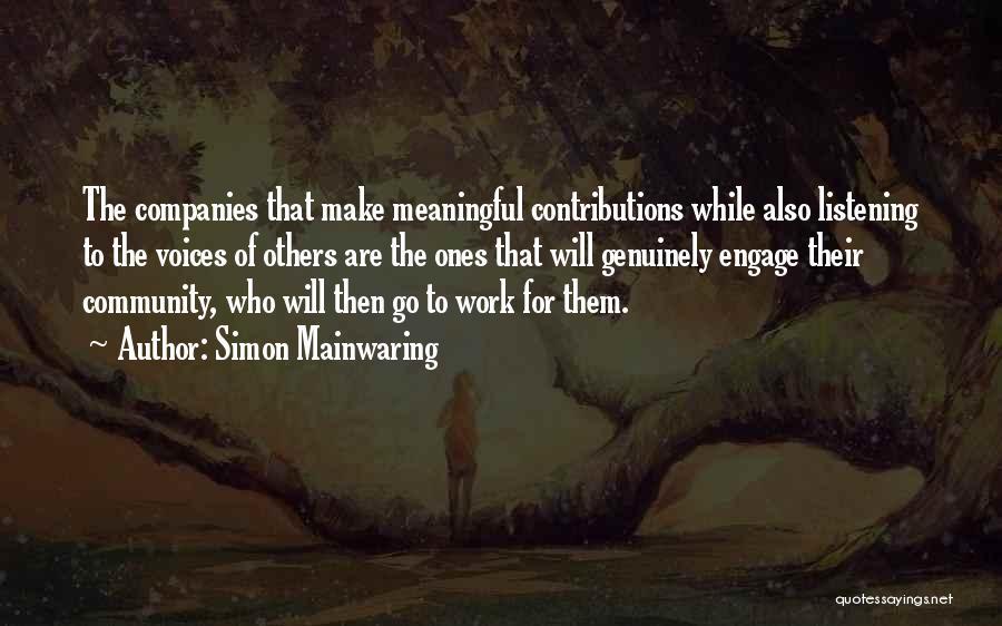 Simon Mainwaring Quotes 308278