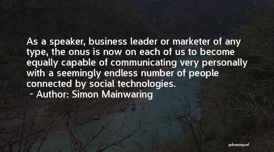 Simon Mainwaring Quotes 376402