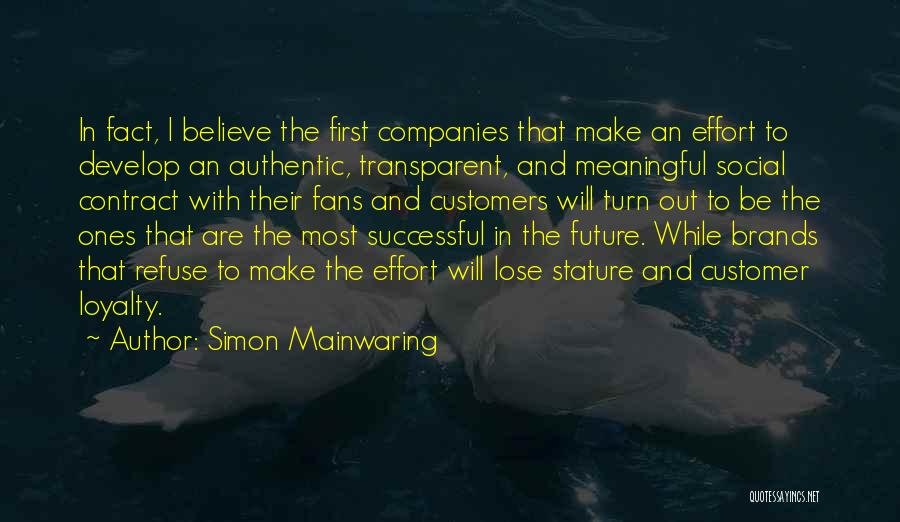Simon Mainwaring Quotes 429457