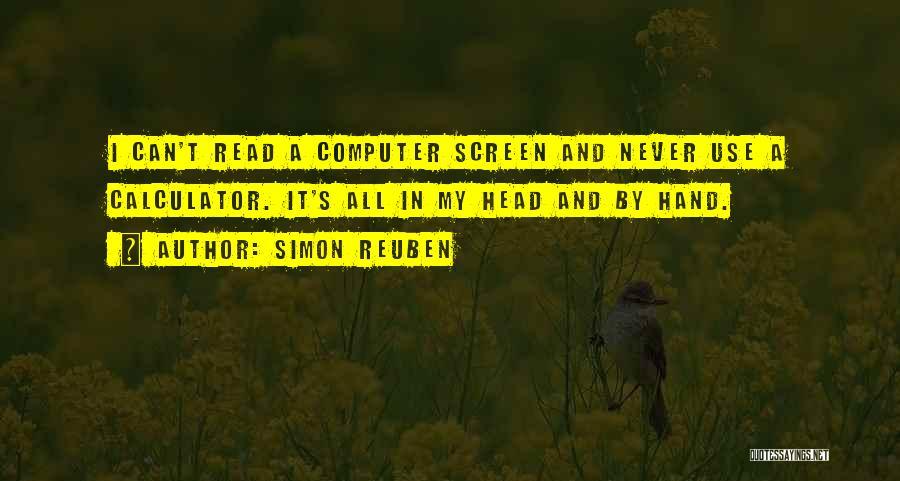 Simon Reuben Quotes 827430