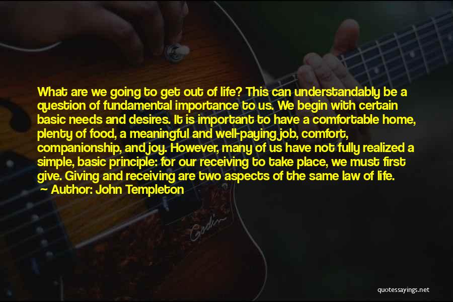 Simple But Meaningful Quotes By John Templeton