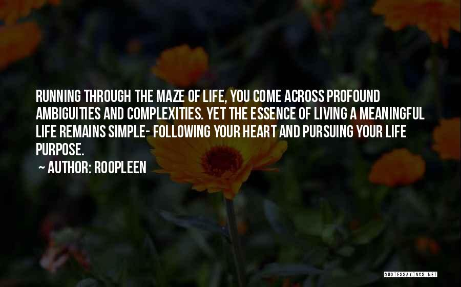 Simple But Meaningful Quotes By Roopleen
