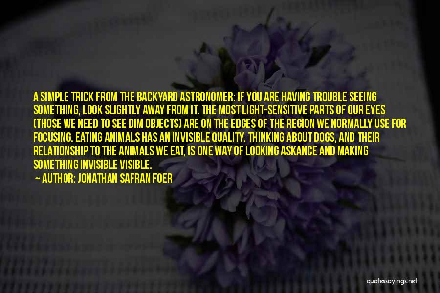 Simple Thinking Of You Quotes By Jonathan Safran Foer