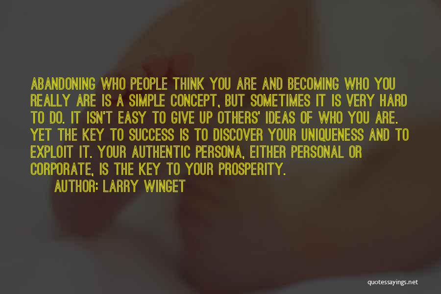 Simple Thinking Of You Quotes By Larry Winget