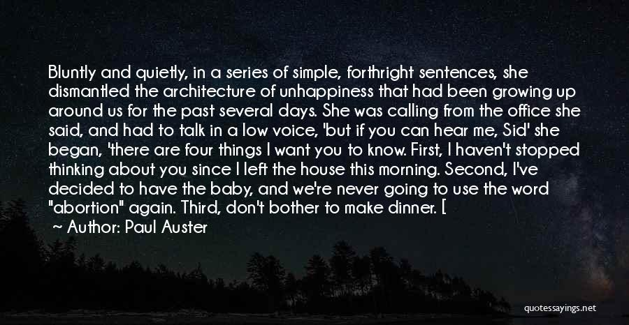 Simple Thinking Of You Quotes By Paul Auster