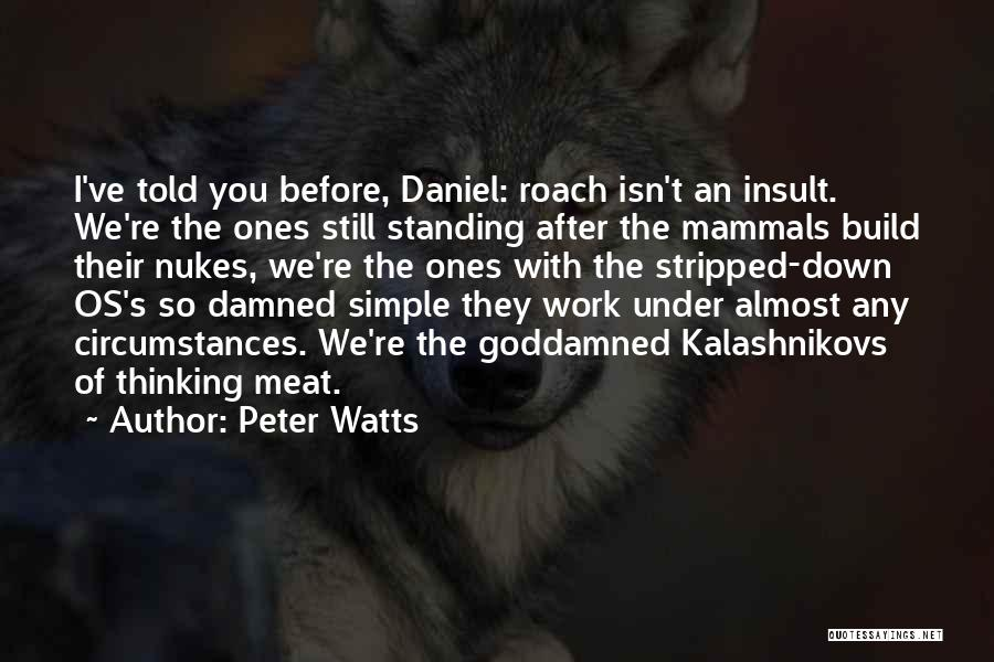 Simple Thinking Of You Quotes By Peter Watts