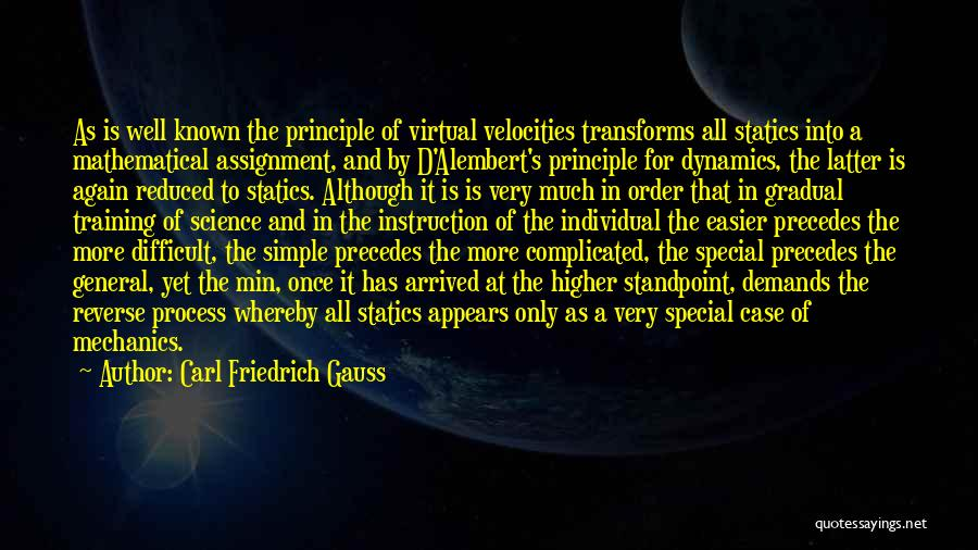 Simple Yet Complicated Quotes By Carl Friedrich Gauss