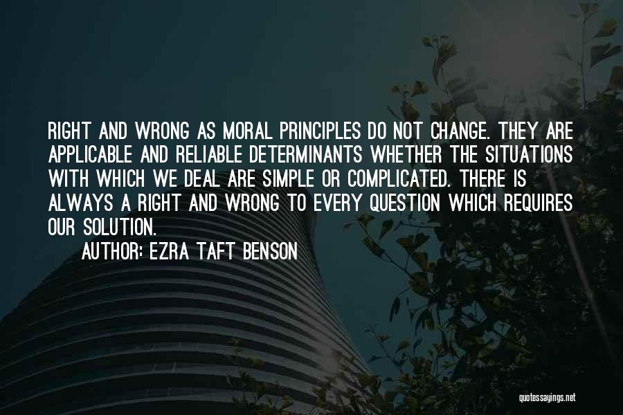 Simple Yet Complicated Quotes By Ezra Taft Benson