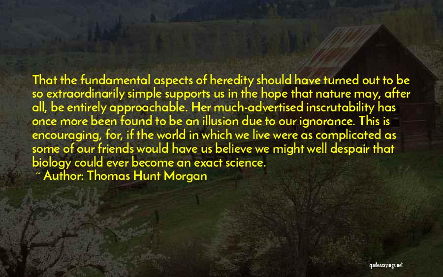Simple Yet Complicated Quotes By Thomas Hunt Morgan