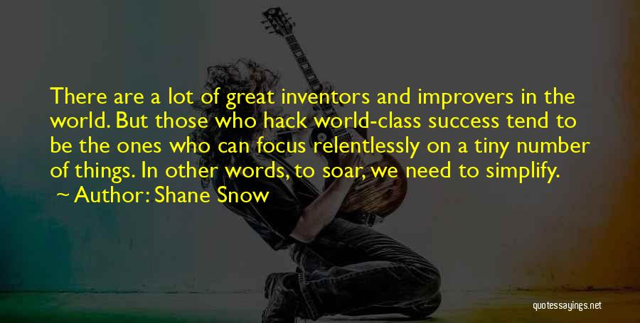 Simplify Success Quotes By Shane Snow