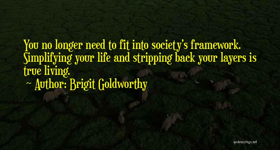 Simplifying Your Life Quotes By Brigit Goldworthy