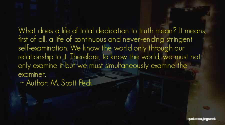 Simultaneously Quotes By M. Scott Peck