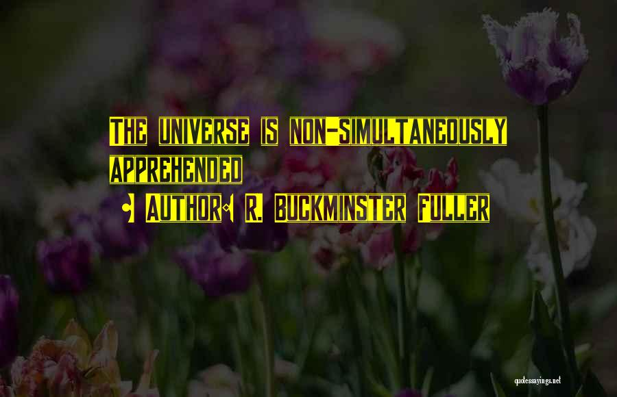 Simultaneously Quotes By R. Buckminster Fuller