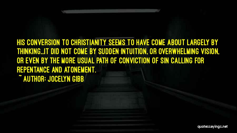 Sin And Repentance Quotes By Jocelyn Gibb