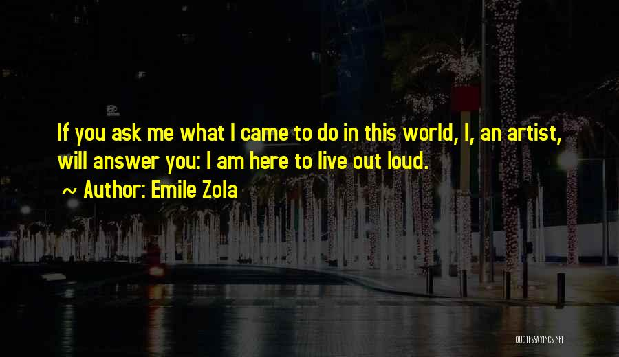 Since You Came In My Life Quotes By Emile Zola