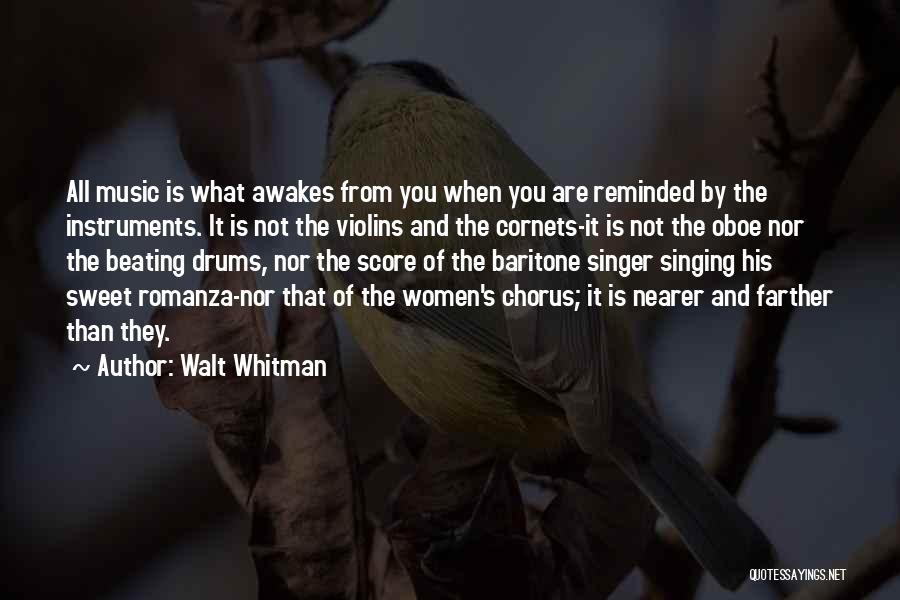 Singing By Singers Quotes By Walt Whitman