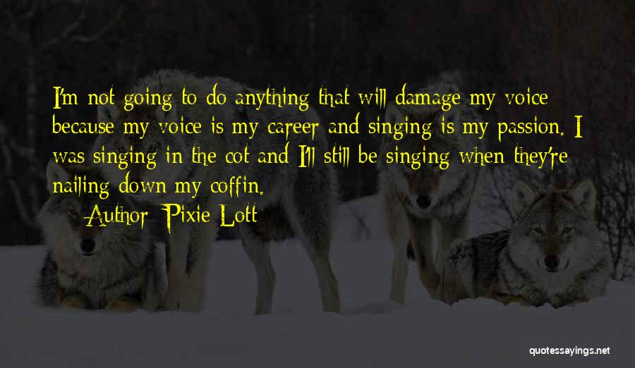 Singing Career Quotes By Pixie Lott