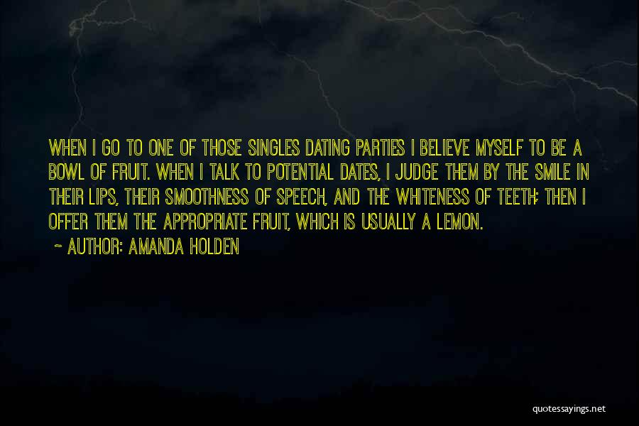 Singles Quotes By Amanda Holden