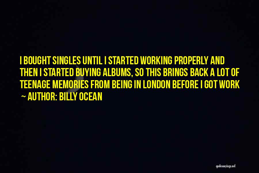 Singles Quotes By Billy Ocean
