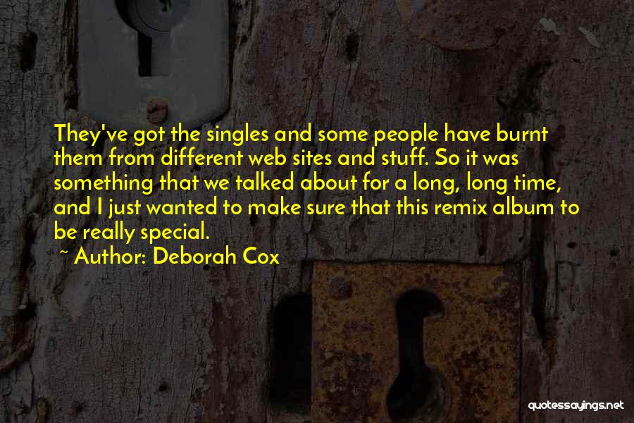 Singles Quotes By Deborah Cox