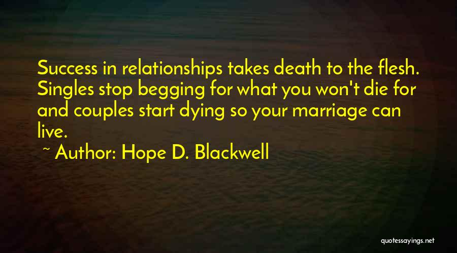 Singles Quotes By Hope D. Blackwell