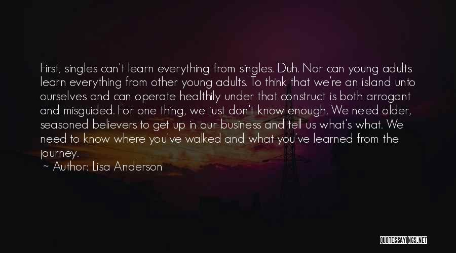 Singles Quotes By Lisa Anderson