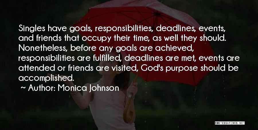 Singles Quotes By Monica Johnson