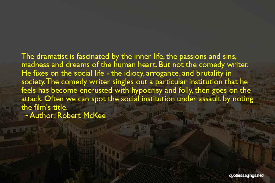 Singles Quotes By Robert McKee