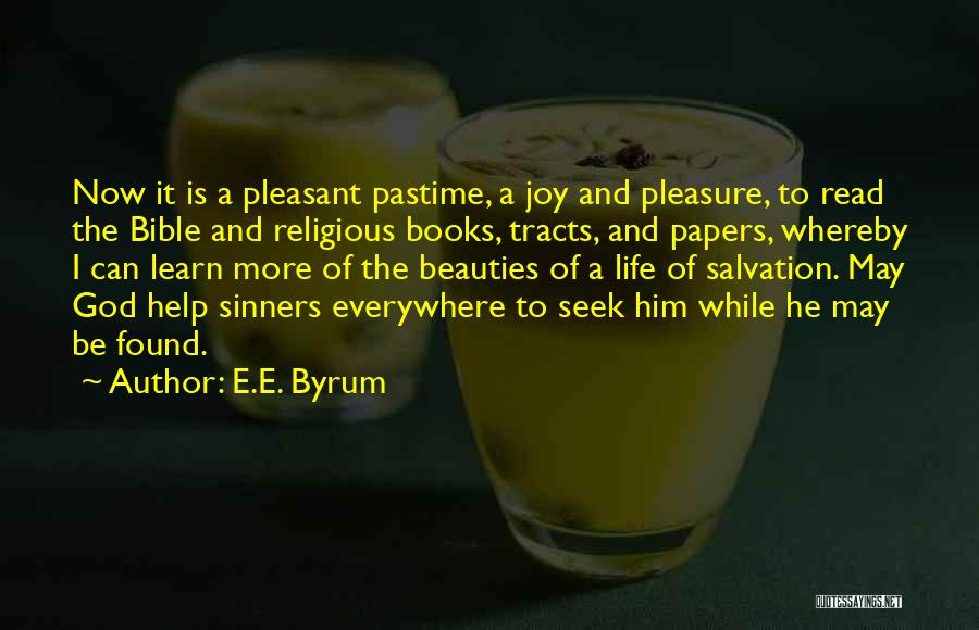 Sinners In The Bible Quotes By E.E. Byrum