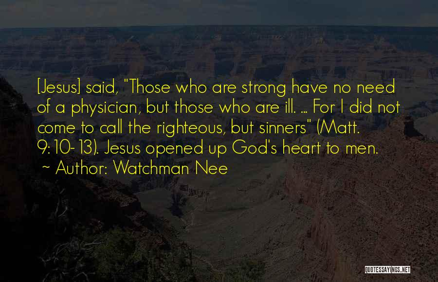 Sinners In The Bible Quotes By Watchman Nee