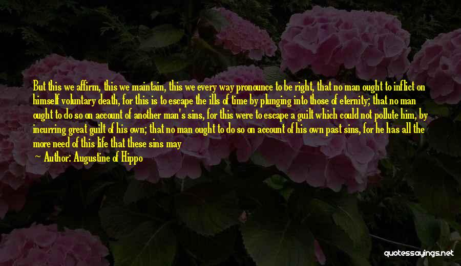 Sins Of The Past Quotes By Augustine Of Hippo