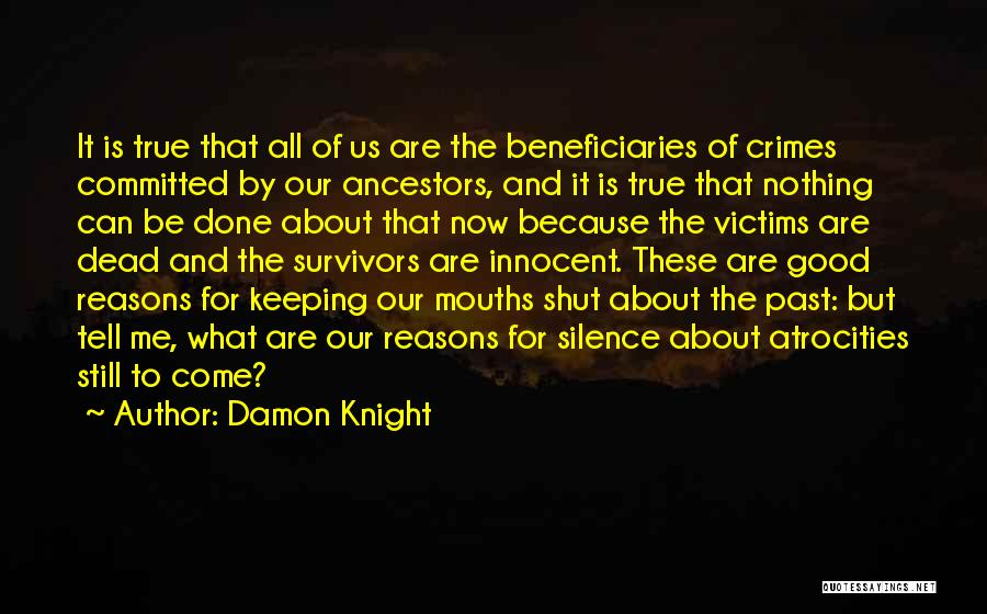 Sins Of The Past Quotes By Damon Knight