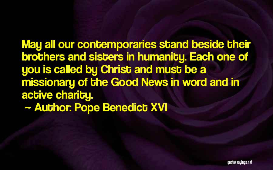 Sisters In Christ Quotes By Pope Benedict XVI