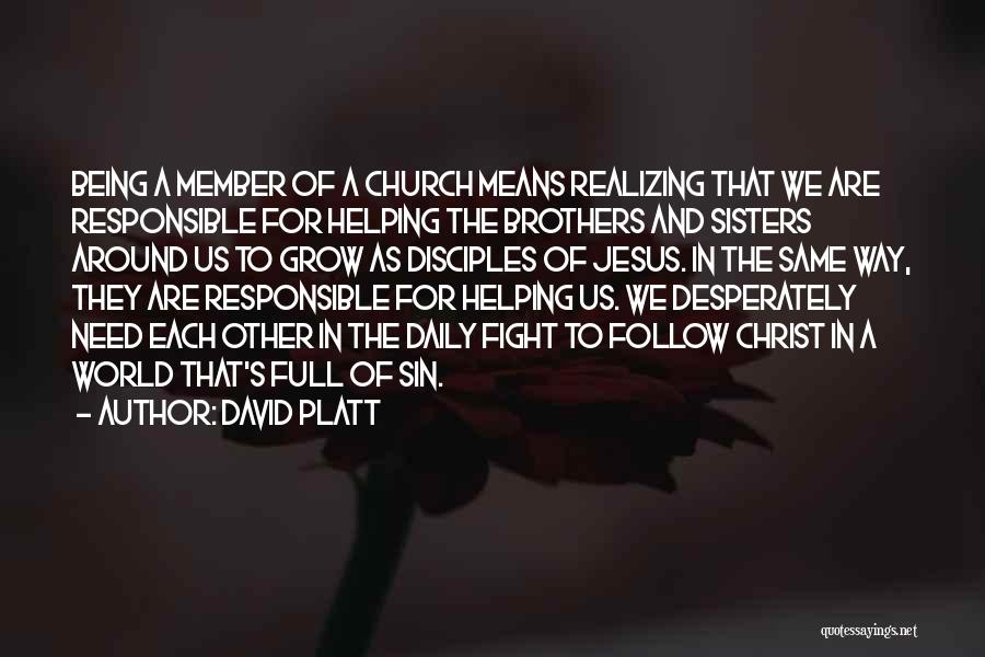 Sisters May Fight Quotes By David Platt