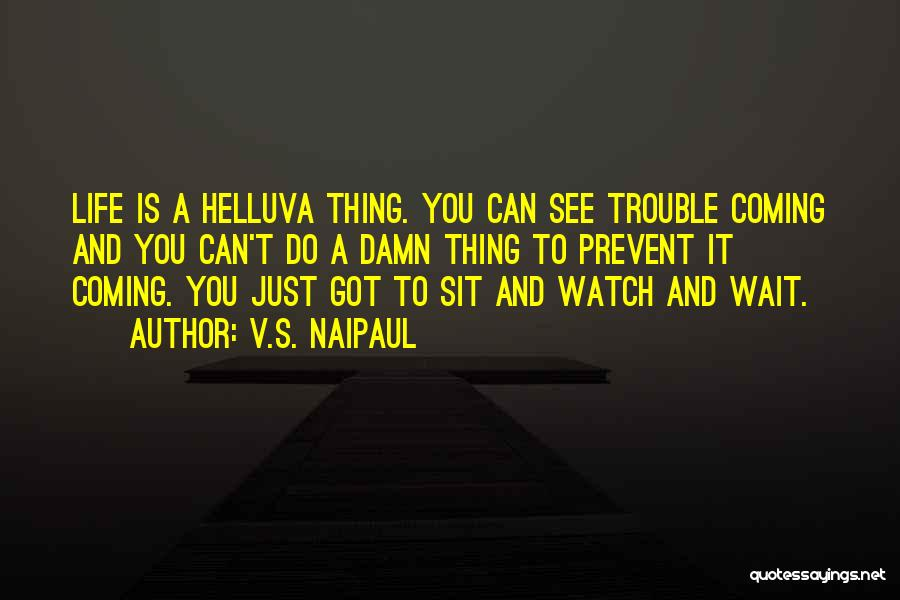 Sit And Watch Quotes By V.S. Naipaul