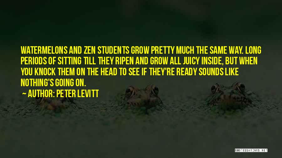 Sitting Pretty Quotes By Peter Levitt