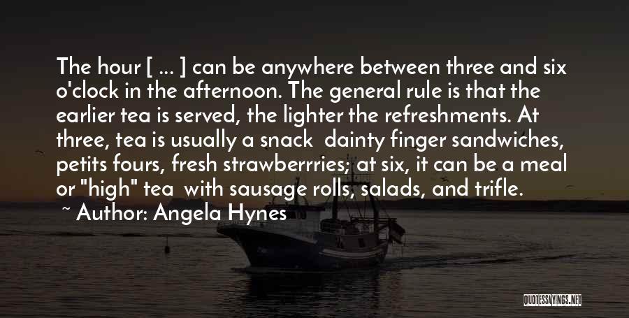Six O'clock Quotes By Angela Hynes
