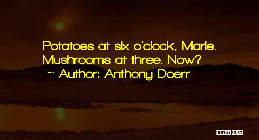 Six O'clock Quotes By Anthony Doerr