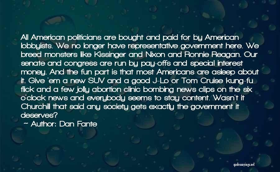 Six O'clock Quotes By Dan Fante