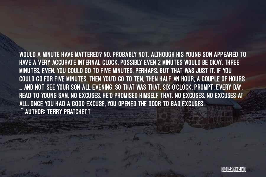 Six O'clock Quotes By Terry Pratchett