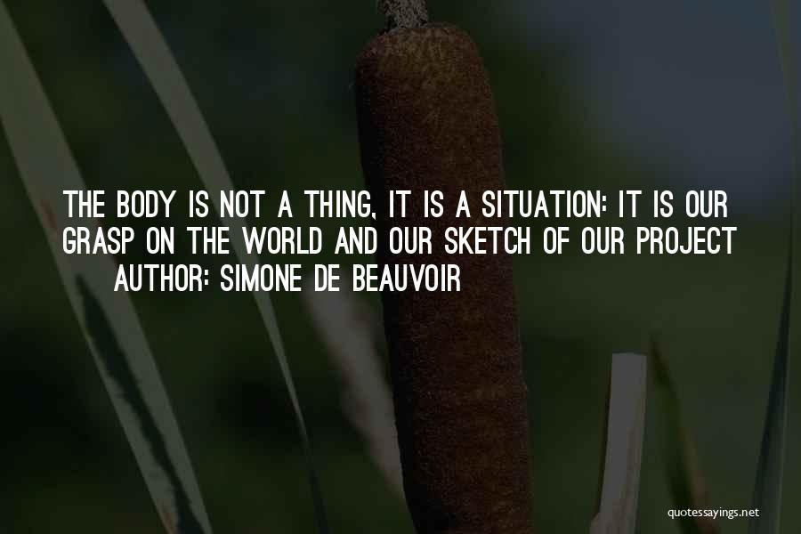 Sketch Quotes By Simone De Beauvoir