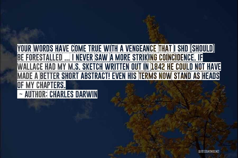 Sketch Yourself Quotes By Charles Darwin