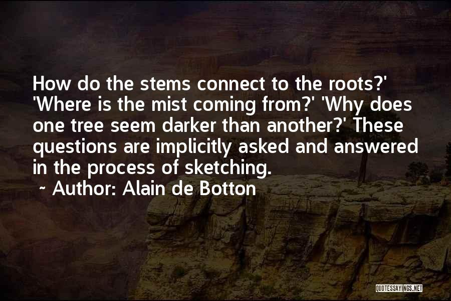 Sketching Quotes By Alain De Botton