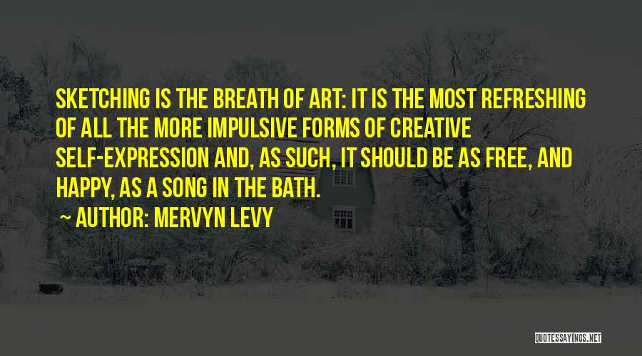 Sketching Quotes By Mervyn Levy