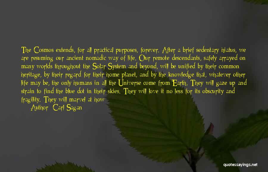 Skies Quotes By Carl Sagan