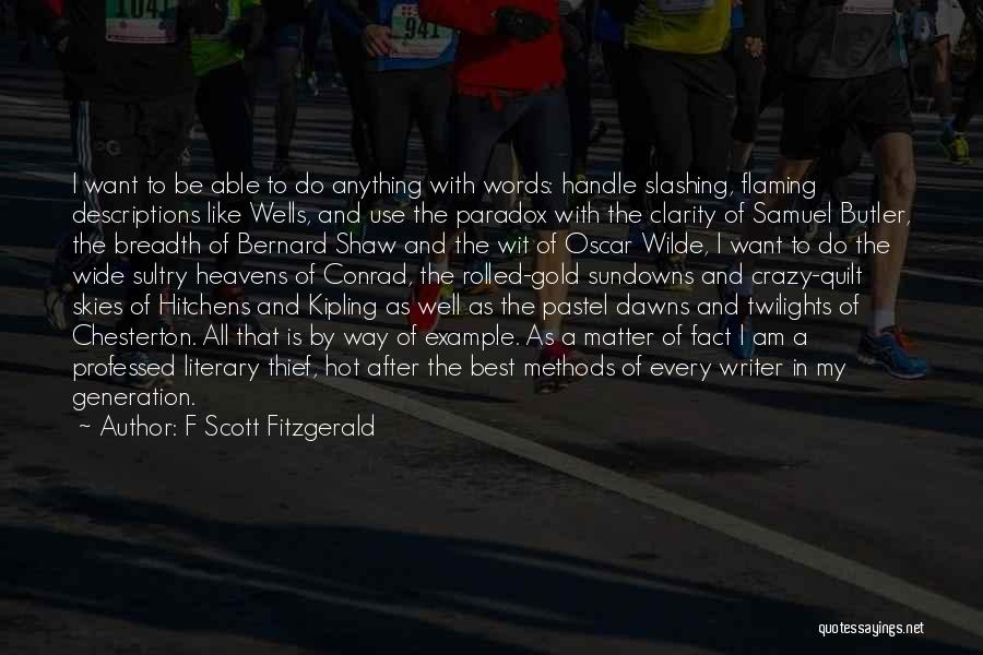 Skies Quotes By F Scott Fitzgerald